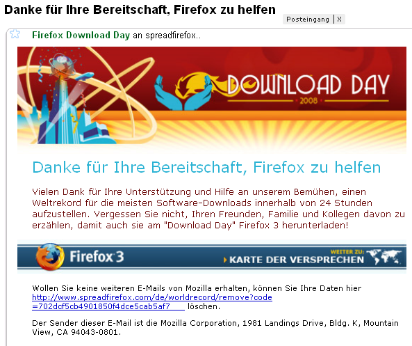 Firefox 3 Download Record